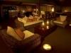Lodge interior at night