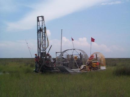 Louisiana - Seismic Drilling photo: Dauterive Contractors
