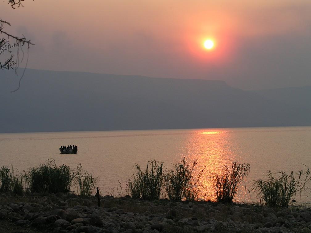 Lake Tanganyika - sunset at Mpulungu in Zambia
