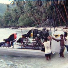 Airboat adventure in Papua New Guinea
