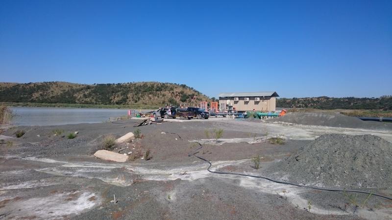 The main pump station at the dam